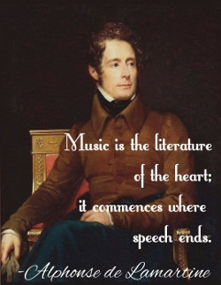 Music is the literature of the heart; it commences where speech ends.